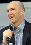 April 6, 2017, Tokyo, Japan - Ben Horowitz, co-founder and general partner of American venture capital Andreessen Horowitz delivers a keynote speech at the New Economy Summit 2017 in Tokyo on Thursday, April 6, 2017. Entrepreneurs and venture companies leaders deliver speeches at a two-day seminnar.   (Photo by Yoshio Tsunoda/AFLO) LwX -ytd-