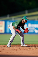 Daytona Tortugas shortstop Alfredo Rodriguez (3) during a game against the St. Lucie Mets on August 3, 2018 at First Data Field in Port St. Lucie, Florida.  Daytona defeated St. Lucie 3-2.  (Mike Janes/Four Seam Images)