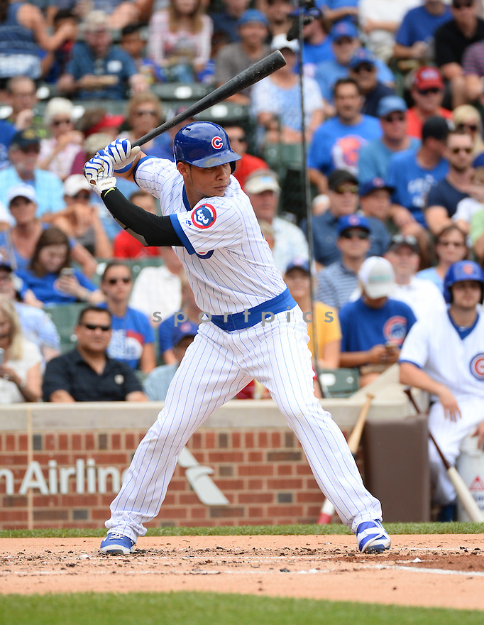 Chicago Cubs Willson Contreras (40) during a game against the New York Mets on July 20, 2016 at Wrigley Field in Chicago, IL. The Cubs beat the Mets 6-2.