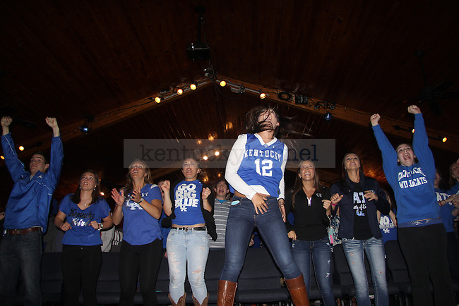 Fans erupt in joy at CSF as time expires during the University of Kentucky, University of Louisville game in the Sweet 16 of the NCAA tournament in Lexington, Ky., on Friday March 28, 2014. Photo by Joel Repoley | Staff