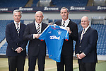 Rangers new management team of Mark Warburton and David Weir at Ibrox flanked by directors Paul Murray and John Gilligan