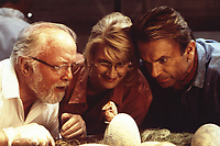 Jurassic Park (1993)<br /> Richard Attenborough, Sam Neill &amp; Laura Dern<br /> *Filmstill - Editorial Use Only*<br /> CAP/KFS<br /> Image supplied by Capital Pictures