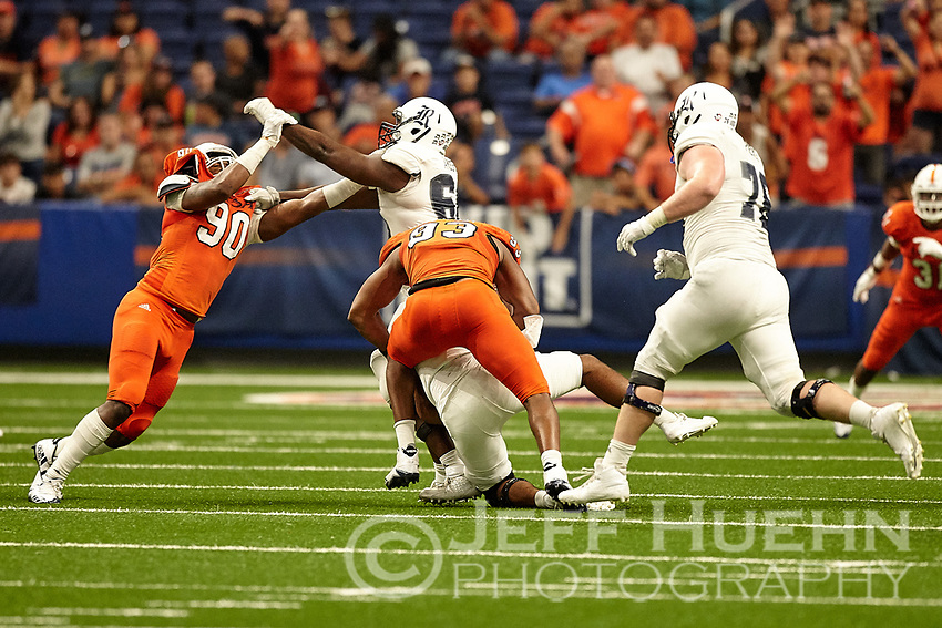 SAN ANTONIO, TX - OCTOBER 21, 2017: The University of Texas at San Antonio Roadrunners defeat the Rice University Owls 20-7 at the Alamodome. (Photo by Jeff Huehn)