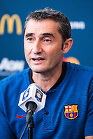 HARRISON, EUA, 21.07.2017 - BARCELONA-JUVENTUS - Ernesto Valverde treinador do Barcelona durante coletiva de imprensa um dia antes da partida pela International Champions Cup na Red Bull Arena na cidade de Harrison nos Estados Unidos nesta sexta-feira, 21. (Foto: William Volcov/Brazil Photo Press)