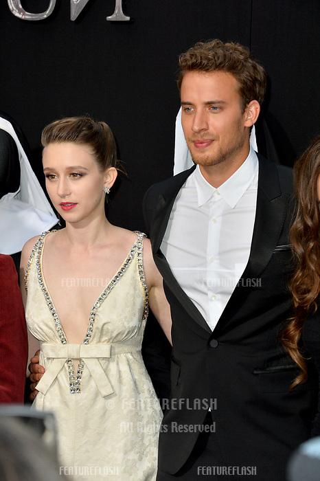 "LOS ANGELES, CA. September 04, 2018: Taissa Farmiga & Jonas Bloquet at the world premiere of ""The Nun"" at the TCL Chinese Theatre, Hollywood."