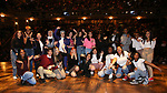 """Student performers during the eduHAM Q & A before The Rockefeller Foundation and The Gilder Lehrman Institute of American History sponsored High School student #EduHam matinee performance of """"Hamilton"""" at the Richard Rodgers Theatre on October 30, 2019 in New York City."""