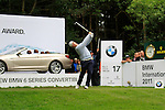 George Coetze (RSA) tees off on the par3 17th hole during of Day 3 of the BMW International Open at Golf Club Munchen Eichenried, Germany, 25th June 2011 (Photo Eoin Clarke/www.golffile.ie)