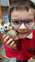 "Pictured: Jack Carr re-united with Cuckoo<br /> Re: A six-year-old boy is delighted after his favourite toy was found after being stolen by a seagull on Anglesey.<br /> Jack Carr was inseparable from his toy owl Cuckoo, who eats dinner, sleeps in a special bed next to him and goes on holiday with the family.<br /> But he was left heartbroken after it was snatched by a seagull close to the family home in Beaumaris.<br /> In a heart-warming tale, the pair are set to be reunited after a social media appeal sparked a search for Cuckoo.<br /> Feral kitten named Sky after being dropped by seagull<br /> Jack's mum Nancy Carr said he was ""made up"" Cuckoo - who has been his favourite toy since he was two - had been found in a garden after being stolen by the gull."