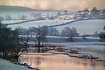 Winter rural scene in Lake District, England