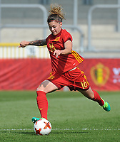 20170408 - EUPEN ,  BELGIUM : Spanish Mapi Leon  pictured during the female soccer game between the Belgian Red Flames and Spain , a friendly game before the European Championship in The Netherlands 2017  , Saturday 8 th April 2017 at Stadion Kehrweg  in Eupen , Belgium. PHOTO SPORTPIX.BE | DIRK VUYLSTEKE