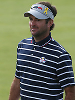 Bubba Watson (Team USA) during Friday's Foursomes, at the Ryder Cup, Le Golf National, Île-de-France, France. 28/09/2018.<br /> Picture David Lloyd / Golffile.ie<br /> <br /> All photo usage must carry mandatory copyright credit (© Golffile | David Lloyd)