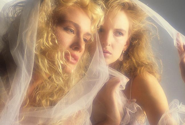 Two Women in Veils.MODEL RELEASED
