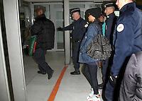 RIHANNA A L' AEROPORT DE ROISSY CHARLES DE GAULLE, QUITTE PARIS POUR BERLIN DANS LE CADRE DE LA TOURNEE 777.
