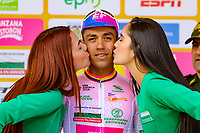 LA UNION - COLOMBIA, 16-02-2019: Daniel Felipe Martinez (COL), Team EF Education First - DRAPAC, celebra como líder de los jóvenes después de la quinta etapa del Tour Colombia 2.1 2019 con un recorrido de 176.8 Km, que se corrió con salida y llegada en La Union, Antioquia. / Daniel Felipe Martinez (COL), Team EF Education First - DRAPAC, celebrates as youth leader after the fifth stage of 176.8 km of Tour Colombia 2.1 2019 that ran with start and arrival in La Union, Antioquia.  Photo: VizzorImage / Anderson Bonilla / Cont