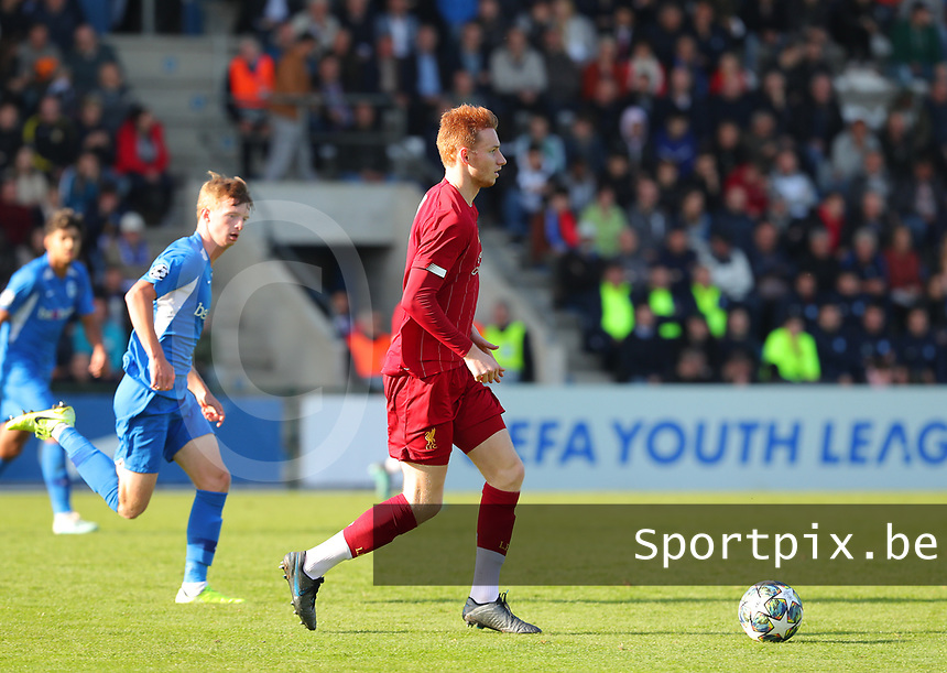20191023 - Genk: Liverpool's Sepp Van Den Bergh is pictured during the UEFA Youth League group stages match between KRC Genk Youth and Liverpool FC on October 23, 2019 at KRC Genk Stadium Arena B, Genk, Belgium. PHOTO:  SPORTPIX.BE   SEVIL OKTEM