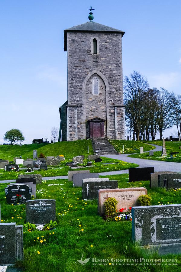 Norway, Roagaland, Avaldsnes. St. Olav's Church is a medieval church.