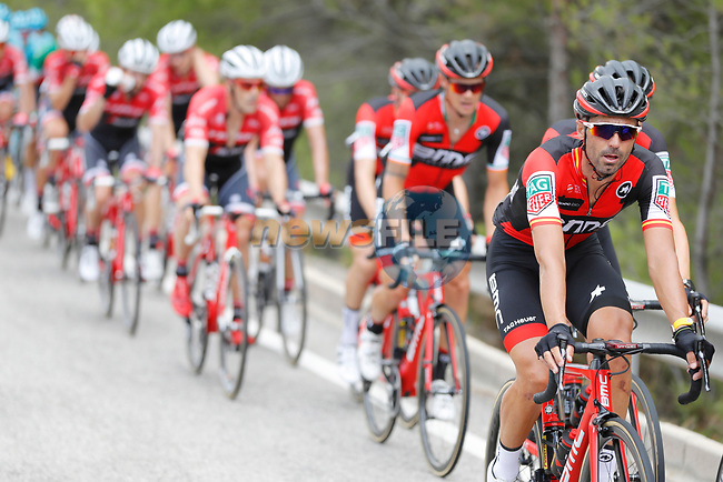 Francisco Jose Ventoso (ESP) BMC Racing Team in action during Stage 7 of the 2017 La Vuelta, running 207km from Ll&iacute;ria-Cuenca, Spain. 25th August 2017.<br /> Picture: Unipublic/&copy;photogomezsport | Cyclefile<br /> <br /> <br /> All photos usage must carry mandatory copyright credit (&copy; Cyclefile | Unipublic/&copy;photogomezsport)