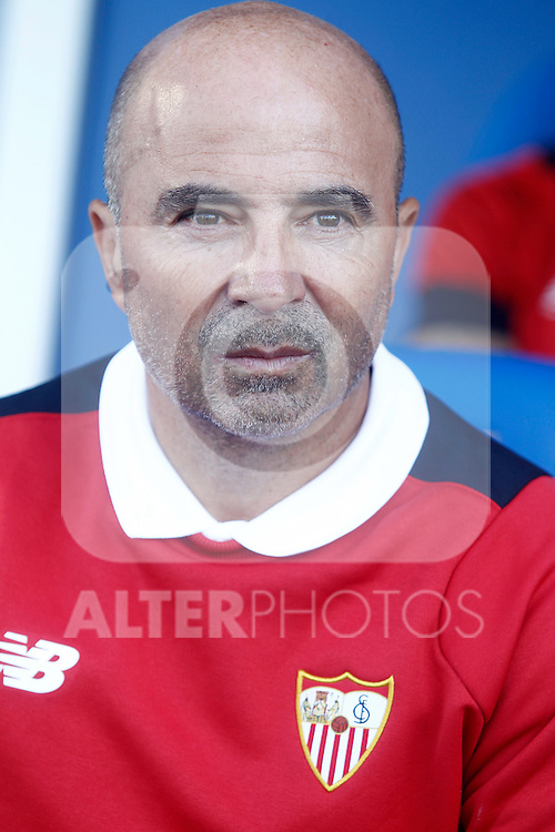 Sevilla FC's coach Jorge Sampaoli during La Liga match. October 15,2016. (ALTERPHOTOS/Acero)