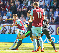 Burnley's Jeff Hendrick unleashes a shot on goal<br /> <br /> Photographer Alex Dodd/CameraSport<br /> <br /> The Premier League - Burnley v Bournemouth - Sunday 13th May 2018 - Turf Moor - Burnley<br /> <br /> World Copyright &copy; 2018 CameraSport. All rights reserved. 43 Linden Ave. Countesthorpe. Leicester. England. LE8 5PG - Tel: +44 (0) 116 277 4147 - admin@camerasport.com - www.camerasport.com