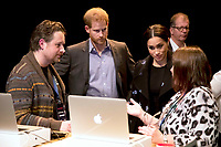 05 May 2019 - Prince Harry Duke of Sussex and Meghan Markle Duchess of Sussex meeting Crisis Volunteers working with Shout, a free text messaging service which aims to provide 24/7 support for anyone experiencing mental health crisis.. Photo Credit: ALPR/AdMedia