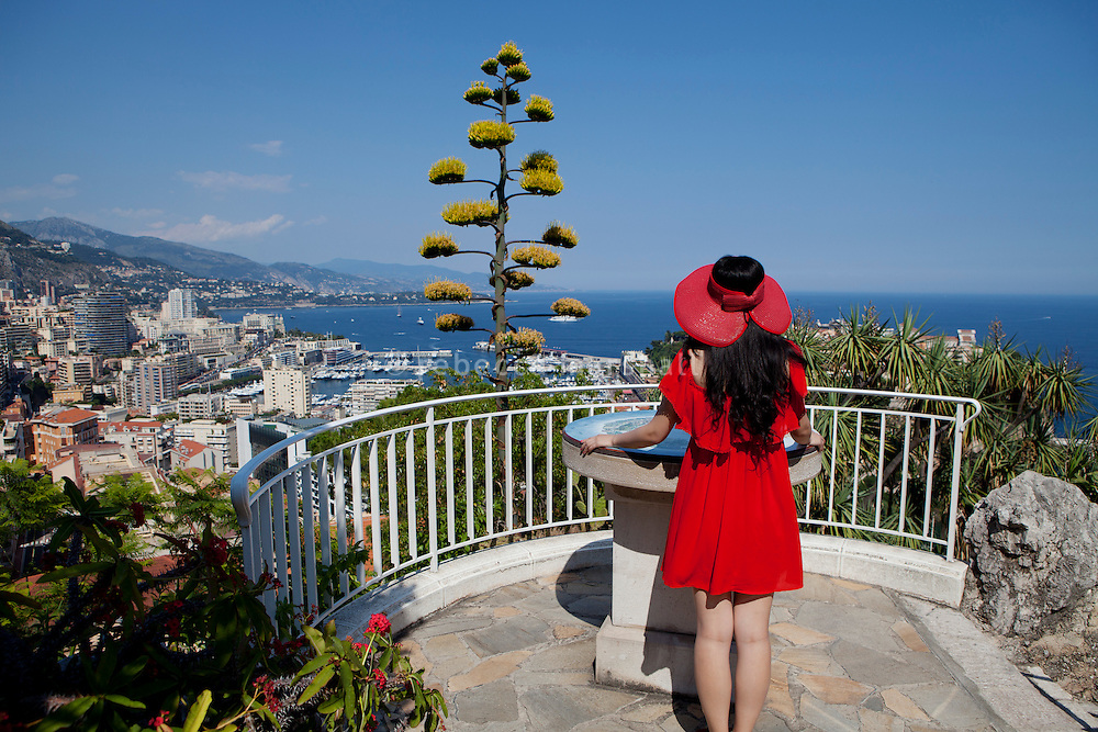 Looking out over Monaco from Le Jardin Exotique, Monaco, 5 July 2013