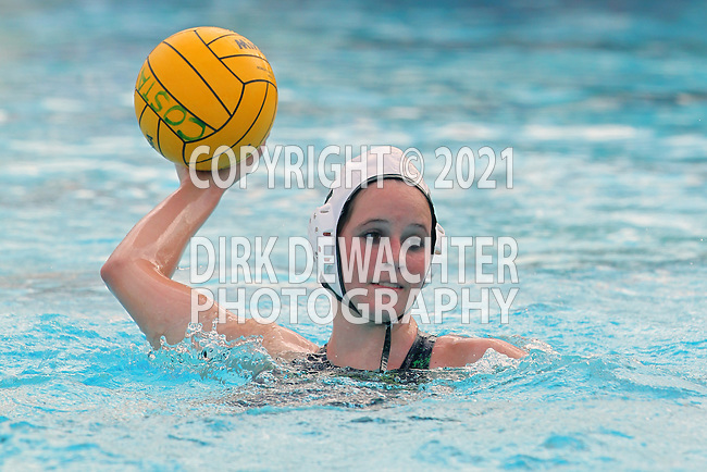 Manhattan Beach, CA 02/16/11 - Melissa Balding (Edison #4) in action during the 2011 first round CIF girls waterpolo playoffs between Edison and Mira Costa.
