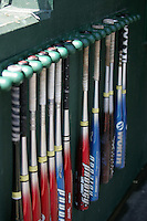 Baseball bats. Photo by Andrew Woolley / Four Seam Images.
