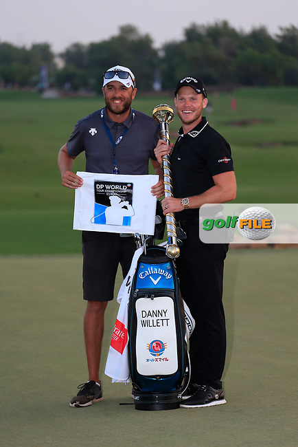 Danny Willett (ENG) winner of the DP World Tour Championship, Jumeirah Golf Estates, Dubai, United Arab Emirates. 18/11/2018<br /> Picture: Golffile | Fran Caffrey<br /> <br /> <br /> All photo usage must carry mandatory copyright credit (&copy; Golffile | Fran Caffrey)