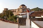 Historic church Iglesia Inacabada, Castano de Robledo, Sierra de Aracena, Huelva province, Spain