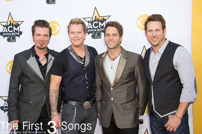 Josh McSwain, Scott Thomas, Barry Knox, and Matt Thomas of Parmalee attend the 50th Academy Of Country Music Awards at AT&T Stadium on April 19, 2015 in Arlington, Texas.