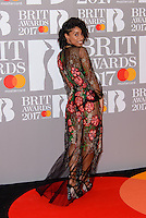 www.acepixs.com<br /> <br /> February 22 2017, London<br /> <br /> Lianne Le Havas arriving at The BRIT Awards 2017 at The O2 Arena on February 22, 2017 in London, England.<br /> <br /> By Line: Famous/ACE Pictures<br /> <br /> <br /> ACE Pictures Inc<br /> Tel: 6467670430<br /> Email: info@acepixs.com<br /> www.acepixs.com