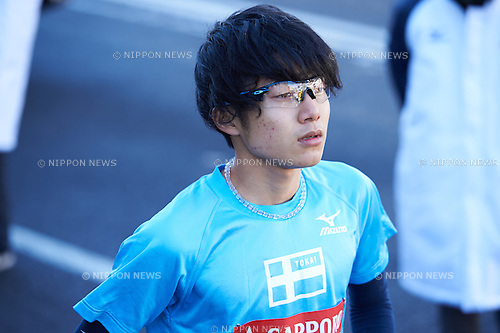 Shota Miyaue (Tokai Univ), <br /> JANUARY 2, 2015 - Athletics : The 91st Hakone Ekiden Race, Odawara Relay place in Kanagawa, Japan. (Photo by AFLO SPORT)