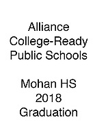 Alliance 2018 Mohan HS Graduation