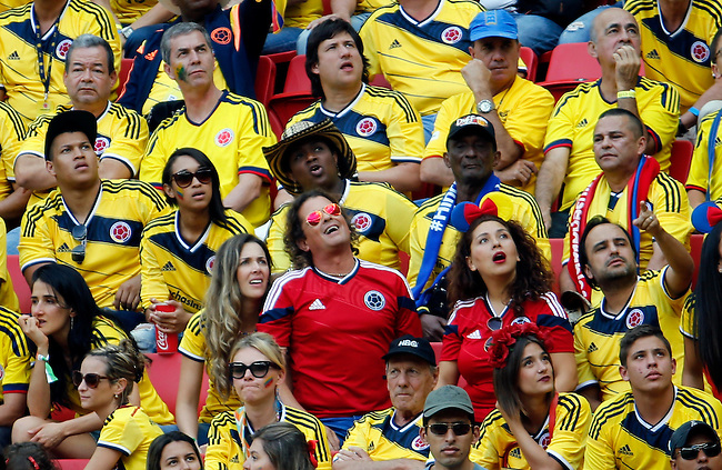 Carlos Vives durante el partido entre Colombia y Costa de Marfil en el Estadio Nacional de Brasilia, el 19 de junio de 2014.<br /> <br /> Foto: Daniel Jayo/Archivolatino<br /> <br /> COPYRIGHT: Archivolatino<br /> Solo para uso editorial. No esta permitida su venta o uso comercial.