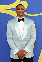 BROOKLYN, NY - JUNE 4: Russell Westbrook at the 2018 CFDA Fashion Awards at the Brooklyn Museum in New York City on June 4, 2018. <br /> CAP/MPI/JP<br /> &copy;JP/MPI/Capital Pictures