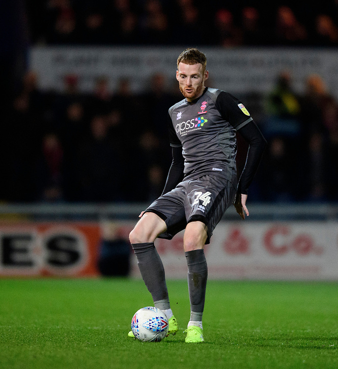 Lincoln City's Cian Bolger<br /> <br /> Photographer Chris Vaughan/CameraSport<br /> <br /> The EFL Sky Bet League Two - Mansfield Town v Lincoln City - Monday 18th March 2019 - Field Mill - Mansfield<br /> <br /> World Copyright © 2019 CameraSport. All rights reserved. 43 Linden Ave. Countesthorpe. Leicester. England. LE8 5PG - Tel: +44 (0) 116 277 4147 - admin@camerasport.com - www.camerasport.com