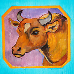 Folk-art, hand-painted trash can covers. Friday at the 80th Amador County Fair, Plymouth, Calif.<br /> .<br /> .<br /> .<br /> .<br /> #AmadorCountyFair, #1SmallCountyFair, #PlymouthCalifornia, #TourAmador, #VisitAmador