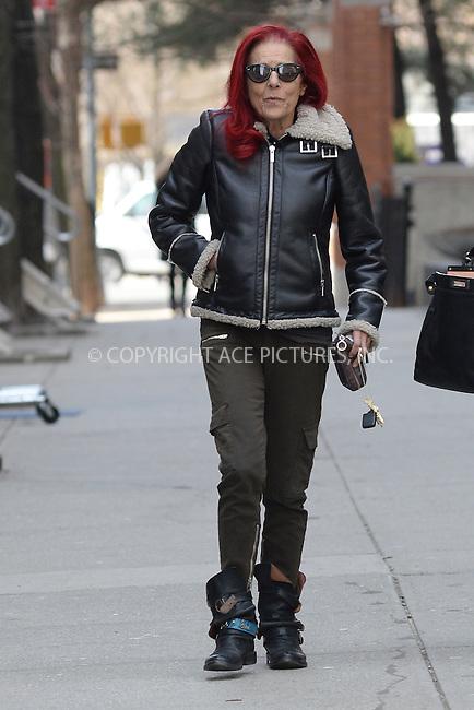 WWW.ACEPIXS.COM<br /> March 27, 2014 New York City<br /> <br /> Patricia Field on the set of Dangerous Liaisons televison show pilot on March 27, 2014 in New York City.<br /> <br /> Please byline: Kristin Callahan<br /> <br /> ACEPIXS.COM<br /> <br /> Tel: (212) 243 8787 or (646) 769 0430<br /> e-mail: info@acepixs.com<br /> web: http://www.acepixs.com