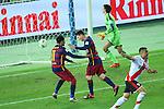 Lionel Messi (Barcelona), <br /> DECEMBER 20, 2015 - Football / Soccer : <br /> FIFA Club World Cup Japan 2015 <br /> Final match <br /> between River Plate - FC Barcelona <br /> at Yokohama International Stadium in Kanagawa, Japan. <br /> (Photo by YUTAKA/AFLO SPORT)
