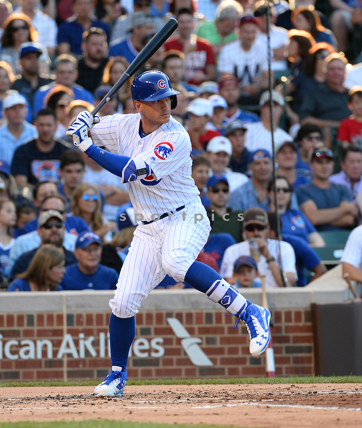 Chicago Cubs Albert Almora Jr. (5) during a game against the New York Mets on July 18, 2016 at Wrigley Field in Chicago, IL. The Cubs beat the Mets 5-1.