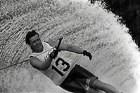 Pix:Michael Steele/SWpix...Water skiing, Reading, 1988...COPYRIGHT PICTURE>>SIMON WILKINSON..Water skiing, Reading.