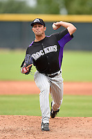 Colorado Rockies pitcher Dylan Craig (40) during an Instructional League game against the Arizona Diamondbacks on October 8, 2014 at Salt River Fields at Talking Stick in Scottsdale, Arizona.  (Mike Janes/Four Seam Images)