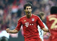 FUSSBALL   1. BUNDESLIGA  SAISON 2012/2013   11. Spieltag FC Bayern Muenchen - Eintracht Frankfurt    10.11.2012 Jubel Javi , Javier Martinez (FC Bayern Muenchen)