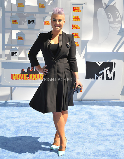 WWW.ACEPIXS.COM<br /> <br /> April 12 2015, LA<br /> <br /> Kelly Osbourne arriving at the 2015 MTV Movie Awards at the Nokia Theatre L.A. Live on April 12, 2015 in Los Angeles, California.<br /> <br /> By Line: Peter West/ACE Pictures<br /> <br /> <br /> ACE Pictures, Inc.<br /> tel: 646 769 0430<br /> Email: info@acepixs.com<br /> www.acepixs.com