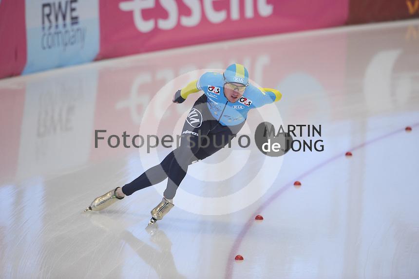 SCHAATSEN: INZELL: Max Eicher Arena, 10-02-2013, Essent ISU World Cup, Season 2012-2013, 1500m Men, B-division, Denis Kuzin (KAZ), ©foto Martin de Jong