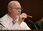 Nevada Assemblyman Randy Kirner, R-Reno, works in committee at the Legislative Building in Carson City, Nev., on Wednesday, Feb. 11, 2015. <br /> Photo by Cathleen Allison