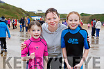 Abbie, Sam and Hayley McElligott at the annual Connie Hartnett Memorial swim in Ballybunion on New Years Day.