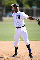 March 21st 2008:  Santo De Leon of the Detroit Tigers minor league system during Spring Training at Tiger Town in Lakeland, FL.  Photo by:  Mike Janes/Four Seam Images
