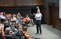 The Leadership Journey with Chris Brickman '86<br /> The Economics Department welcomes Chris Brickman '86 back to Oxy to discuss his personal leadership journey, including being the CEO and president of two major companies, and how his mistakes helped him become the effective leader he is today. Tues., Sept. 25, 2018 in Choi Auditorium.<br /> (Photo by Marc Campos, Occidental College Photographer)