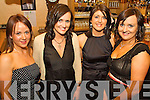 Glin Glamour - Having a ball at the Glin GAA Social held in The Kirby's Lantern Hotel, Tarbert on Friday night were l/r Catriona Wallace, Idel Sheehan, Mairead Fitzgerald and Karen Costello.................................................................................................................................................... ............